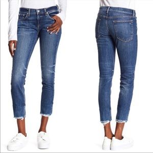 RAG & BONE Dre Frayed Hem Skinny Ankle Jeans